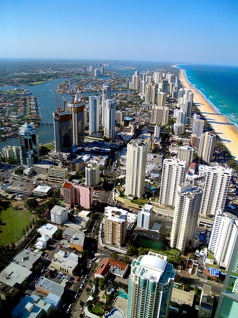 Gold Coast in your rental car
