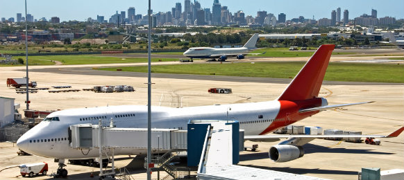a scene from kingsford smith airport in sydney