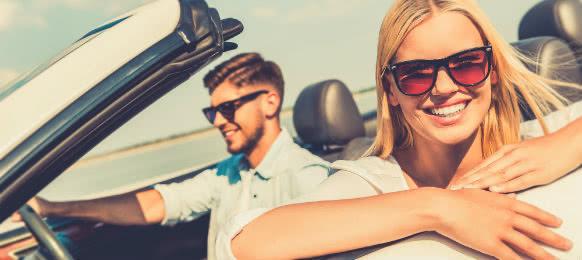 couple enjoying their road trip