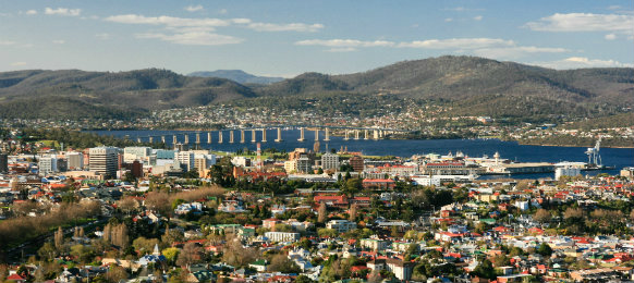 lovely view in Hobart CBD