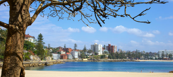 manly beach in sydney australia><br>  <p>On the Northern Beaches of <a href=