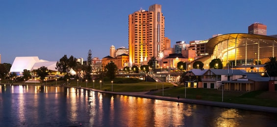 city night view of Adelaide
