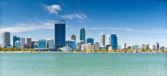 Breath-taking view of Perth, Australia