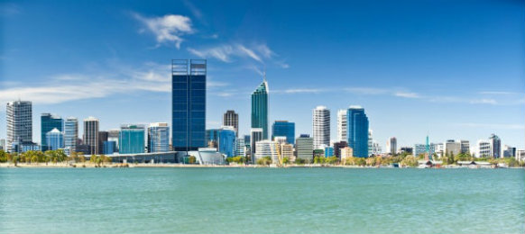 skyline view of Perth