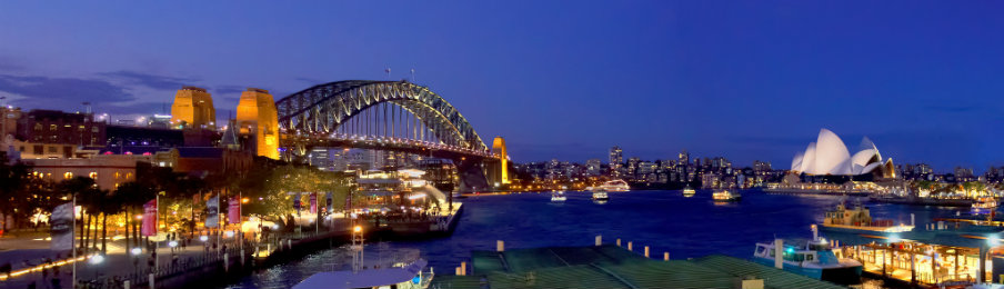 Skyline view of Sydney, Australia