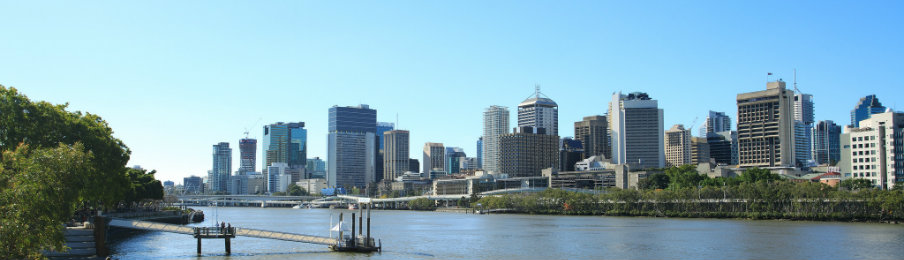 skyline view of Brisbane City, Queensland, Australia