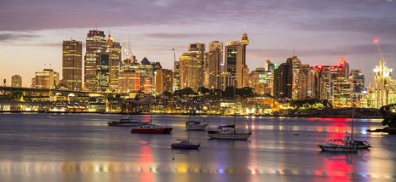 Sydney Harbour, Australia at night