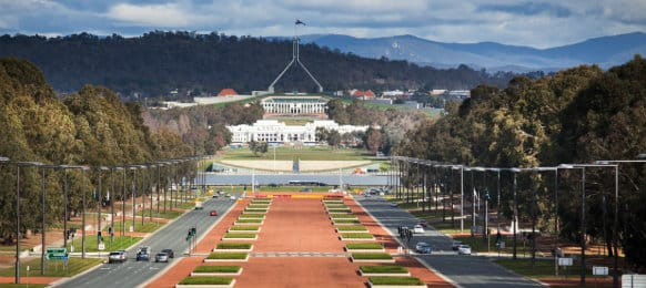 amazing view of Canberra city